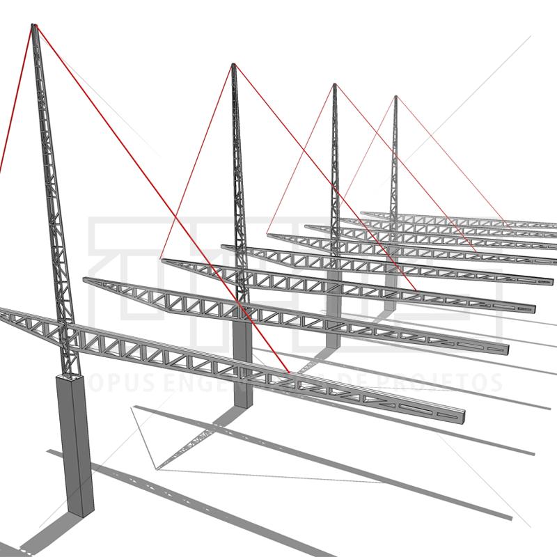 Estrutura Metálica da cobertura